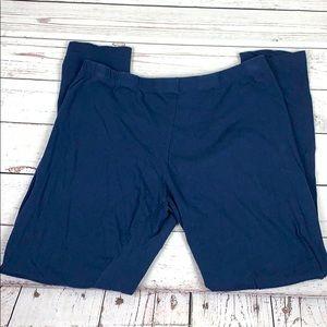 bozzolo navy blue capri leggings 1X